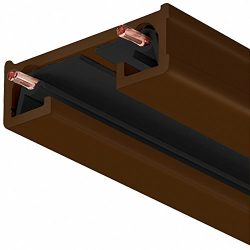 Juno Lighting 4FT BZ R Series Trac-Lite Track Section, 4′, Bronze