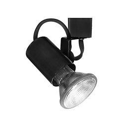 WAC Lighting HTK-178-BK H Series Line Voltage Track Head in Black Finish
