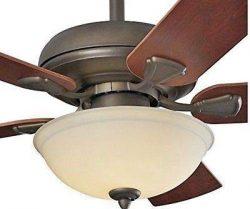 Brightwatts B07X8YJPQR Energy Efficient 52 Inch LED Ceiling Fan with Nutmeg Espresso Blades and  ...