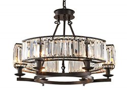 Yue Jia Luxury Contemporary Round Island Crystal Chandelier Flush Mount Pendant Light Lighting F ...