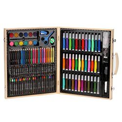 Fan-Ling 150 Piece Deluxe Art Set – Art Supplies for Drawing, Painting and More in a Plast ...