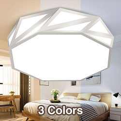 Neporal 30W Ceiling Fixture Dimmable 3 Color Temperature Adjustable 16 Inch Flush-Mount-Ceiling- ...