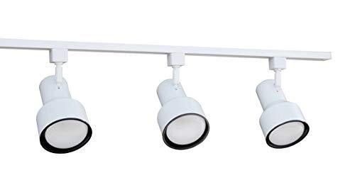 NICOR Lighting 4 Ft. 3-Light 75-Watt Linear Track Lighting Kit, White (10997WH)