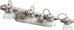 Lithonia Lighting LTFSGL4 27K 90CRI BN M4 4-Light LED Linear Seeded Glass Fixed Track Kit, 2700K ...