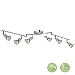 Creyer LED Track Lighting, 6-Light Ceiling Spot Lighting, Flexibly Rotatable Light Head,Modern L ...