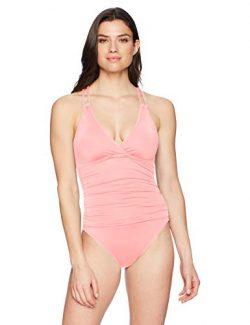 La Blanca Women's Island Goddess Underwire Double Strappy Back One Piece Swimsuit, Light C ...