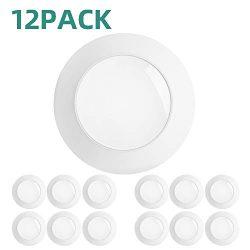 addlon 12 Pack 5/6 Inch LED Disk Light Flush Mount Downlight Recessed Retrofit Ceiling Lights, I ...