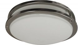 LED Decorative Brushed Nickel Round Ceiling Flush Mount Fixture 3000K (10″ LED)