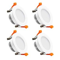 YGS-Tech 2 Inch LED Recessed Lighting Dimmable Downlight, 3W(35W Halogen Equivalent), 3000K Warm ...