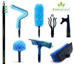 EVERSPROUT Extension Pole Total Kit (30+ Foot Reach) | Telescopic Pole, Scrub Brush, Light Bulb  ...
