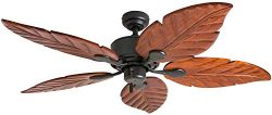 Honeywell Ceiling Fans 50501-01 Sabal Palm Ceiling Fan, 52″, Bronze