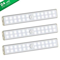 Under Cabinet Lighting-New Wireless 24 LED Light 3 Packs with Build-in 1000mAh Rechargeable Batt ...