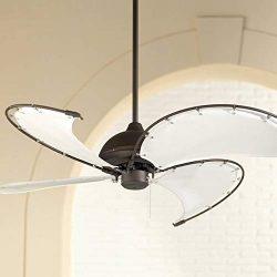 52″ Cool Vista II Tropical Coastal Outdoor Ceiling Fan Oil Rubbed Bronze Reversible Khaki  ...