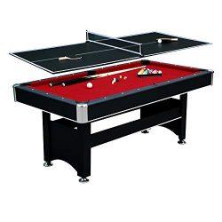 Hathaway Spartan 6′ Pool Table, 72″ L x 38″ W x 31″ H, Black