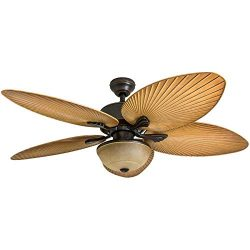 Harbor Breeze Chalmonte 52-in Oil Rubbed Bronze Indoor/Outdoor Ceiling Fan with Light Kit and Remote