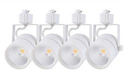Cloudy Bay 20W 1800lm Dimmable LED Track Light Head,CRI 90+ Cool White 4000K,Adjustable Tilt Ang ...