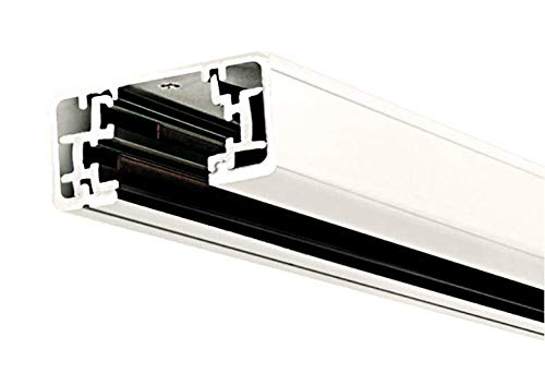 Liform Lite Track Lighting Section, 4ft H Track Rail, White Single Circuit 3-Wire Track Rail wit ...