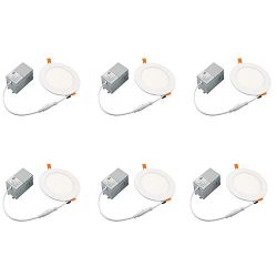 6 Inch Dimmable LED Downlight with Junction Box, Recessed Retrofit Lighting Fixture, 12W (100W R ...