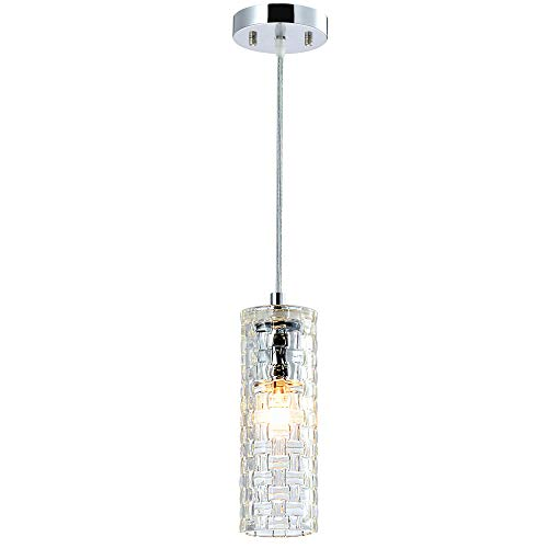 Glass Pendant Lighting Mini Chandelier 1 Light Ceiling Light Fixture Kitchen Island