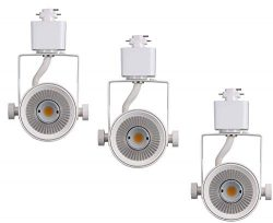 Cloudy Bay 8W Dimmable LED Track Light Head,CRI90+ Warm White,Adjustable Tilt Angle Track Lighti ...