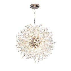 Dellemade Modern Sputnik Chandelier, DD00906N 12-Lights Fireworks Pendant Light,Silver Crystal C ...
