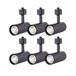 mirrea 6 Pack LED Track Lighting Heads Compatible with Single Circuit H Type Rail Ceiling Spotli ...