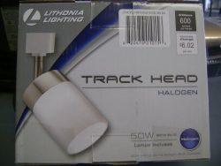 LITHONIA LIGHTING LTHCYLD MR16GU10 BN M4 Brushed Nickel Track Lighting Head, White