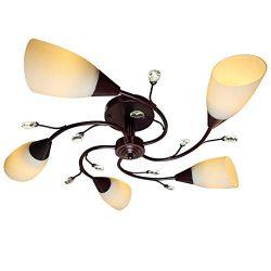 Semi Flush Mount Ceiling Light Fixture – FINXIN FXCL22 Modern Black Painting Pendant Light ...