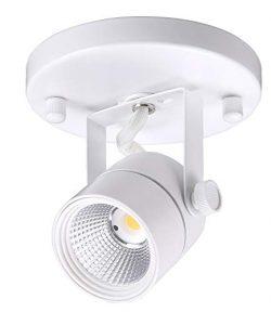 Cloudy Bay LED Flush Mount Ceiling Spot Light,CRI90+ 3000K Warm White Dimmable,Adjustable Tilt A ...