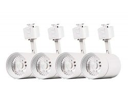 4-Pack LED Cylinder Track Lighting Heads for 2-Wire-1 Compatible Juno Track – FLSNT 12W (7 ...