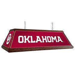 Oklahoma Sooners 46″ Wood Framed Billiards Pool Table Light
