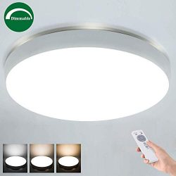 """Airand 40W LED Ceiling Light with Remote, 19.3"""" Round 3600lm Dimmable Flush Mount Ceiling  ..."""