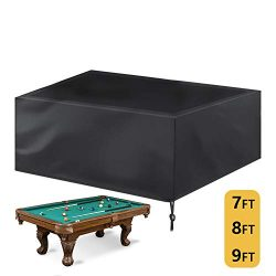 Kasla 7/8/9 ft Billiard/Pool Table Cover Full Protection, Waterproof Heavy Duty Oxford Fabric wi ...