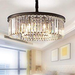 Meelighting Crystal Chandeliers Modern Contemporary Ceiling Lights Fixtures Pendant Lighting Din ...
