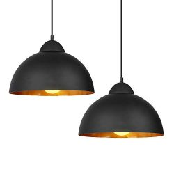 DECKEY Pendant Light,2 Pack,Ceiling Hanging Pendant Lights,Adjustable Height,1.1m,Vintage Classi ...