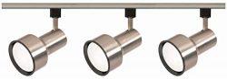 Nuvo Lighting TK340 3-Light R30/PAR30 Longneck Step Cylinder Track Light Kit, Brushed Nickel (Re ...