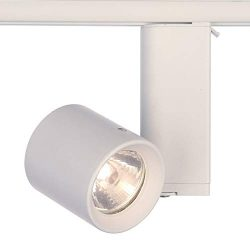 Lightolier 9173BWH Lytespan Track Lighting Miniforms Low Votage Cylinder, WHite