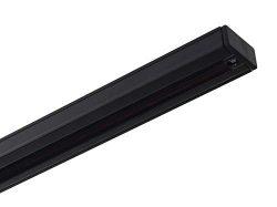 NICOR Lighting 4 Ft. Black Track Lighting Rail Section, H-Type [3-Wire] (10004BK)