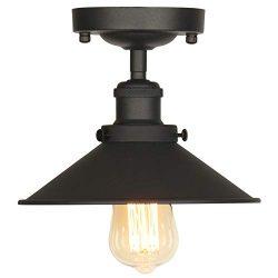 AILIN Industrial Vintage Metal Semi Flush Mount Ceiling Light Fixtures, Edison Style Hanging Lig ...