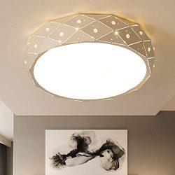 YOHOUHOU LED Flush Mount Ceiling Light for Bedroom Living Room Indoor Lights 15W 12 Inch Hall Li ...