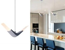 Modern LED Island Pendant Light Mini Contemporary Hanging Chandelier with Acrylic Shape for Kitc ...