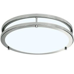 LB72165 LED Flush Mount Ceiling Light, Brushed Nickel, 16-Inch, 23W, (120W Equivalent), 5000K Da ...