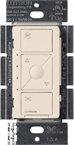 Lutron Caseta Smart Home Ceiling Fan Speed Control Switch, Works with Alexa, Apple HomeKit, and  ...