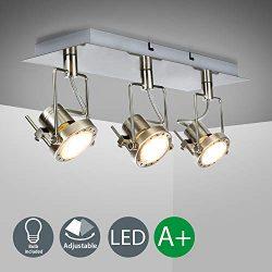 DLLT 3-Lights Ceiling Track Light Fixture,Gu10 Modern Flexible Light Led Directional Track Wall  ...