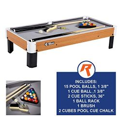 Rally and Roar Tabletop Pool Table Set and Accessories, 40″ x 20″ x 9″ – ...