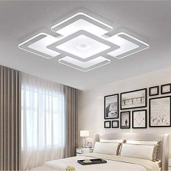 Ladiqi Modern LED Flush Mount Lighting Fixture Nordic Ultrathin Close to Ceiling Light Indoor Sq ...
