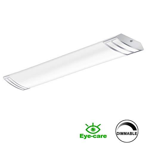 FaithSail 4FT LED Light Fixture 50W 5600lm Flush Mount Linear Lights, 4000K, 1-10V Dimmable, 4 F ...