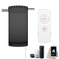 Smart WiFi Fan Switch Ceiling Fan and Light Remote Control Kit, WiFi Fan Controller Compatible w ...