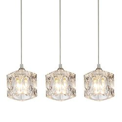 COTULIN Set of 3 Modern Cute Mini Crystal Pendant Light,Pendant Lighting Fixture for Living Room ...