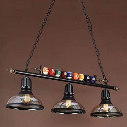 Island Light Hanging Pool Table Light Fixture Pendant Light with Clear Glass Shade Special Billi ...